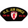 FLB1658 - US Air Force Can Do Will Do Civil Engineer Red Horse Insignia Black Patch