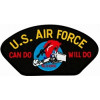 FLB1659 - US Air Force Can Do Will Do Charging Charlie Black Patch