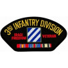 FLB1693 - Iraq 3rd Infantry Division Veteran Black Patch