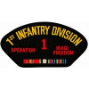 FLB1754 - 1st Infnatry Division Operation Iraqi Freedom with Ribbon Black Patch