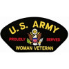 FLB1811 - US Army Proudly Served Woman Veteran Black Patch