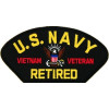 FLB1823 - US Navy Retired Vietnam Veteran Patch