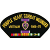 FLB1827 - Purple Heart Vietnam 1959-75 Black Patch