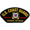 FLB1839 - US Coast Guard Proudly Served Woman Veteran Insignia Black Patch