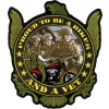 FLC1910 - Proud to be a Biker and a Vet Back Patch (5 x 6  inch)