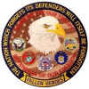 """FLD1687 - Defenders of Our Freedom Fallen Hereos Back Patch (5 x 5"""")"""