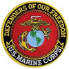 FLD1710 - US Marine Corps Defenders of Our Freedom Back Patch