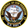 FLD1711 - US Navy Defenders of Our Freedom Back Patch