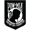 "FLF1229 - POW/MIA Black and White Back Patch (9"" x 12.5"")"