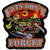 "FLG1856 - Vets Don't Forget Back Patch (12.5"" x 13"")"