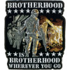 FLG1905 - Brotherhood Wherever You Go Back Patch (10 x 11  inch)