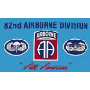 PCF22 - US Army 82nd Airborne Division 1 Sided Screen Printed Flag 3' x 5' ft