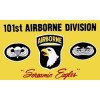 PCF24 - US Army 101st Airborne Division 1 Sided Screen Printed Flag 3' x 5'