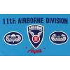 PCF26 - US Army 11th Airborne Division 1 Sided Screen Printed Flag 3' x 5' ft