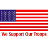 PCF39 - United States Flag We Support Our Troops 1 Sided Screen Printed Flag 3' X 5'