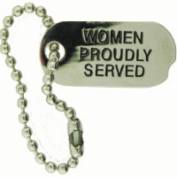 13096 - Women Proudly Served Dog Tag Pin