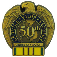 13098 - 50TH ANNIVERSARY VIETNAM WAR with VN Service Ribbon