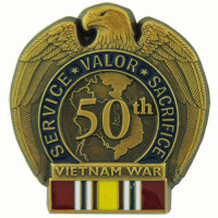 13099 - 50TH VIETNAM ANNV. ERA with National Defense Ribbon