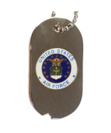 United States Air Force Emblem Dog Tag Necklace - 14773-DTNC