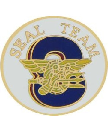 14120 - US Navy Seal Team 8 Insignia Pin