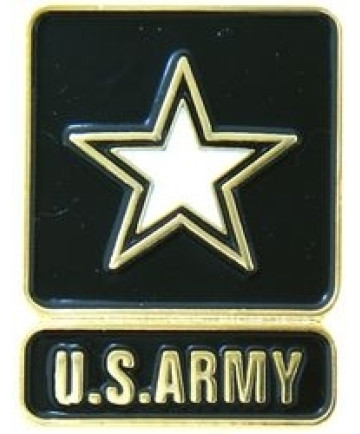14242 - United States Army with Star Insignia Pin