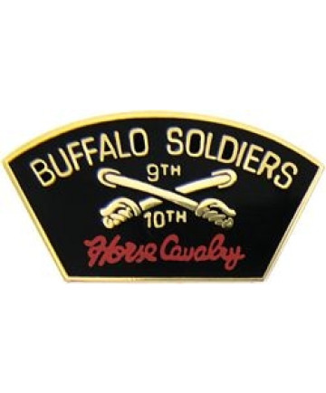14308 - 9th & 10th Buffalo Soldiers Horse Cavalry Pin
