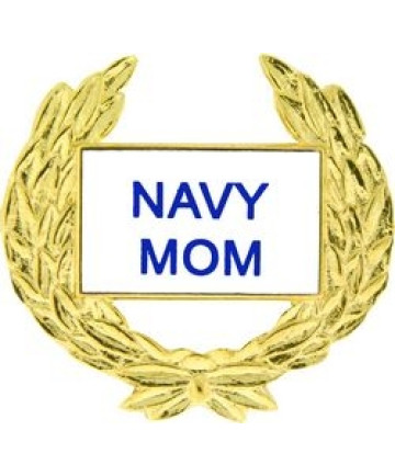 14358 - Navy Mom with Wreath Pin