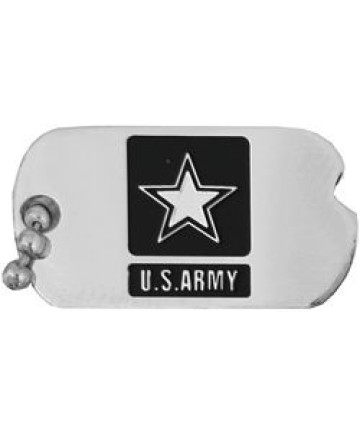14368 - United States Army with Star Insignia Dog Tag Pin