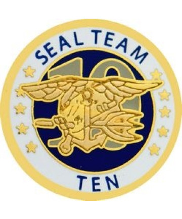 14474 - US Navy Seal Team 10 Insignia Pin