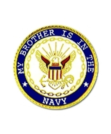 14502 - My Brother Is In The Navy Insignia Pin