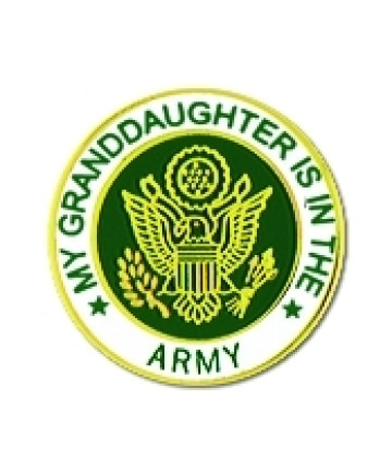 14521 - My Granddaughter Is In The Army Insignia Pin
