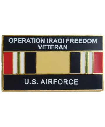 14547 - Operation Iraqi Freedom Veteran United States Air Force with Ribbon Pin
