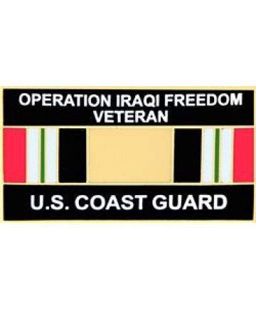 14550 - Operation Iraqi Freedom Veteran United States Coast Guard with Ribbon Pin