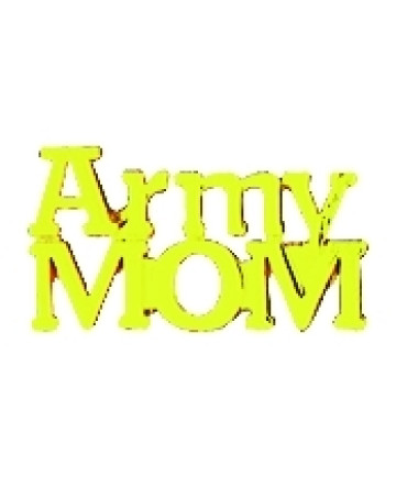 14610 - Army Mom Script Pin