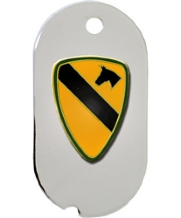 14653-DTN - 1st Cavalry Division Dog Tag Key Ring