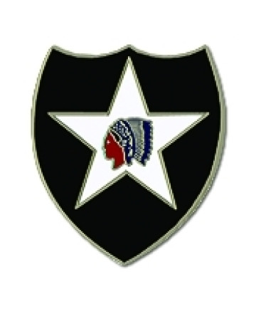 14854 - 2nd Infantry Division Pin