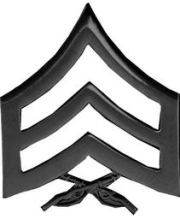 14886BK - United States Marine Corps Sergeant (Sgt) Stripes Pin