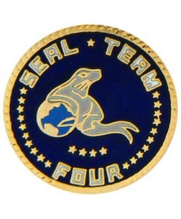 14916 - US Navy Seal Team Four Insignia Pin