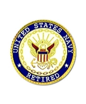 15038 - United States Navy Retired Insignia Pin