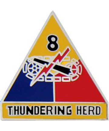 15517 - 8th Armored Division Thundering Herd Pin