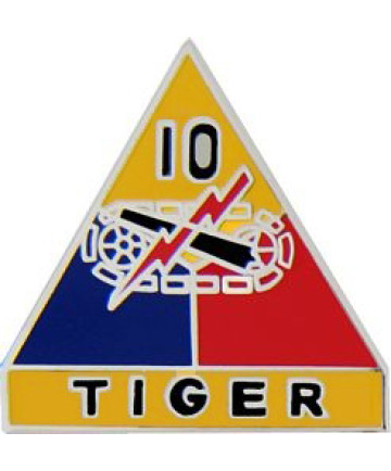 15519 - 10th Armored Division Tiger Pin