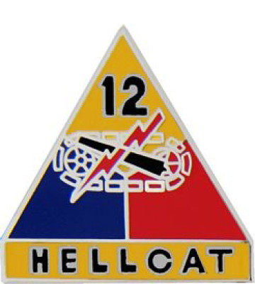 15521 - 12th Armored Division Hellcat Pin