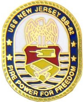 15543 - USS New Jersey Fire Power For Freedom Pin