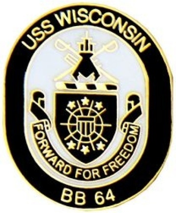 15544 - USS Wisconsin BB-64 Pin