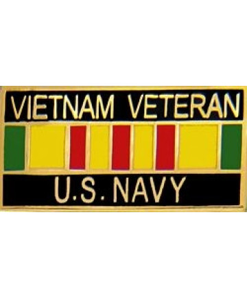 15628 - Vietnam Veteran United States Navy with Ribbon Pin