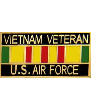 15629 - Vietnam Veteran United States Air Force with Ribbon Pin