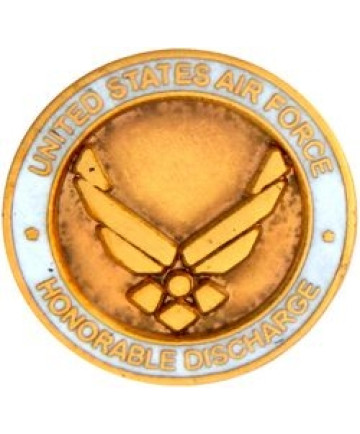 15844 - United States Air Force Honorable Discharge  with Symbol Pin