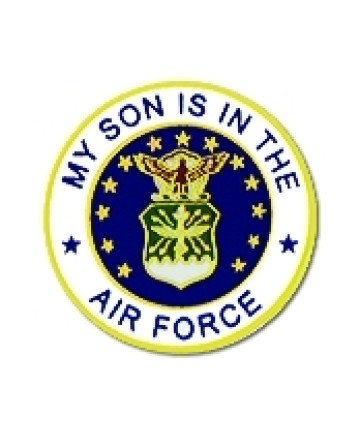 15983 - My Son Is In The Air Force Emblem Pin