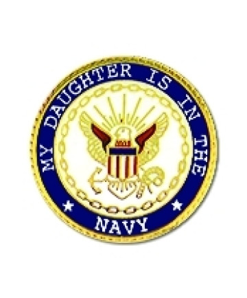 15988 - My Daughter Is In The Navy Insignia Pin