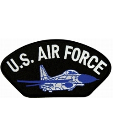 FLB1335 - US Air Force with Airplane Black Patch